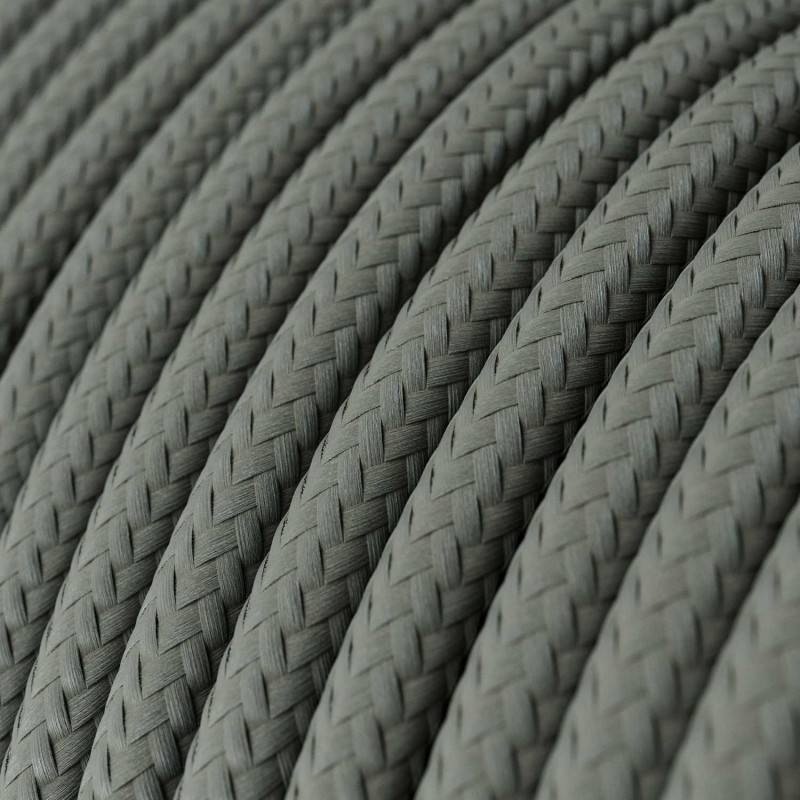 Ronde flexibele textielkabel van viscose met schakelaar en stekker. RM06 - groen 1,80 m.