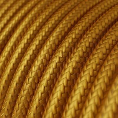 Ronde flexibele textielkabel van viscose met schakelaar en stekker. RM07 - lilw 1,80 m.