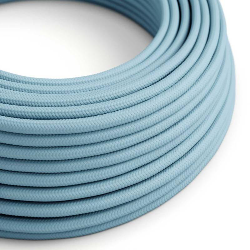 Ronde flexibele textielkabel van viscose met schakelaar en stekker. RM04 - zwart 1,80 m.