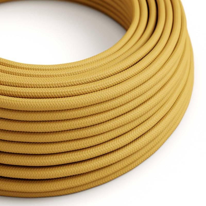 Lang overbruggings- gevlochten strijkijzersnoer 3 x 1,50 mm. - ivoor viscose TM00