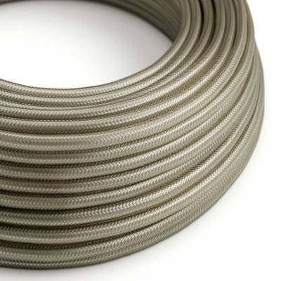 Lang overbruggings- gevlochten strijkijzersnoer 3 x 1,50 mm. - zwit viscose TM01