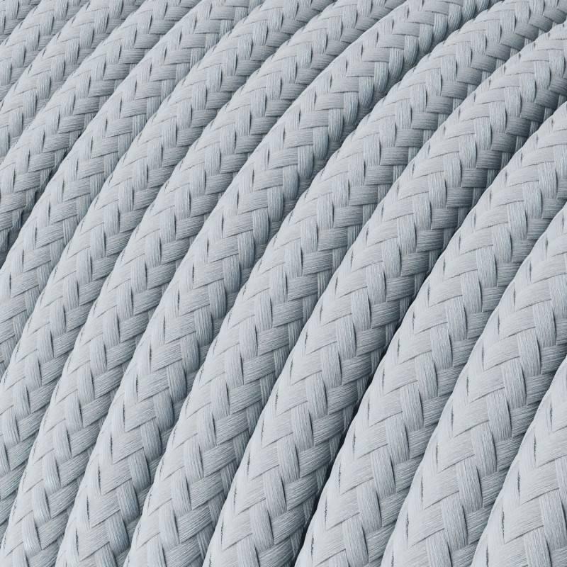 Lang overbruggings- gevlochten strijkijzersnoer 3 x 1,50 mm. - bruin viscose TM13