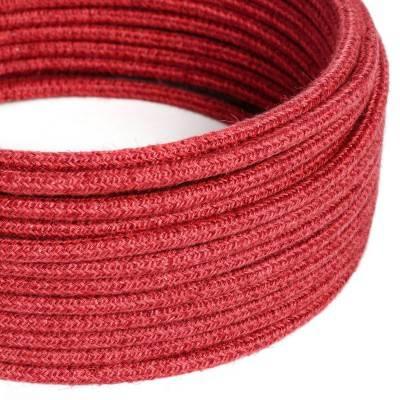Ronde flexibele textielkabel van viscose met schakelaar en stekker. RM01 - wit1,80 m.