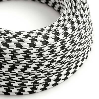 Ronde flexibele textielkabel van viscose met schakelaar en stekker. RM14 - paars 1,80 m.
