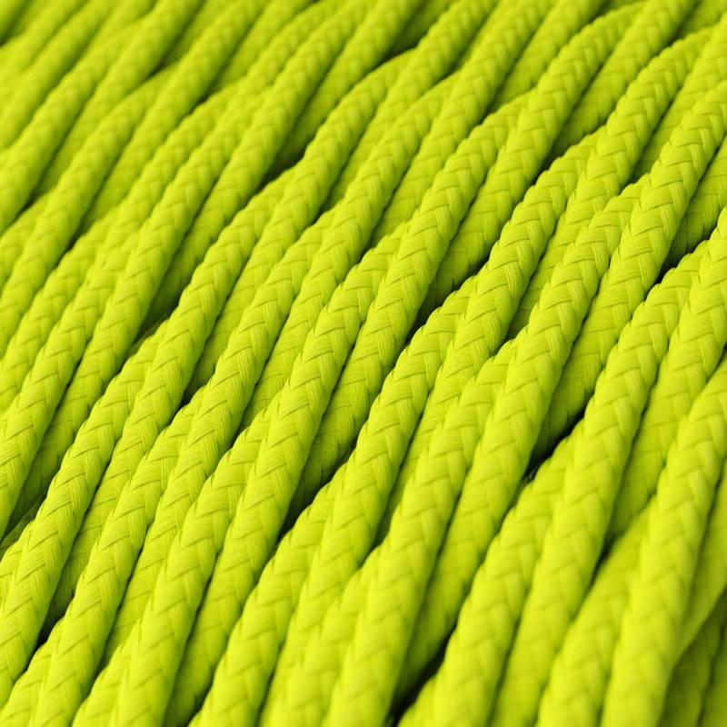 Ronde flexibele textielkabel van viscose met schakelaar en stekker. RP-04 - tweekleurig wit/zwart 1,80 m.