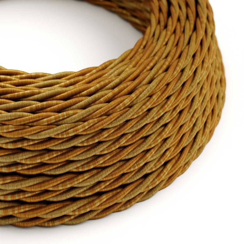 Ronde flexibele textielkabel van viscose met schakelaar en stekker.RZ07 - zigzag wit/lila 1,80 m.