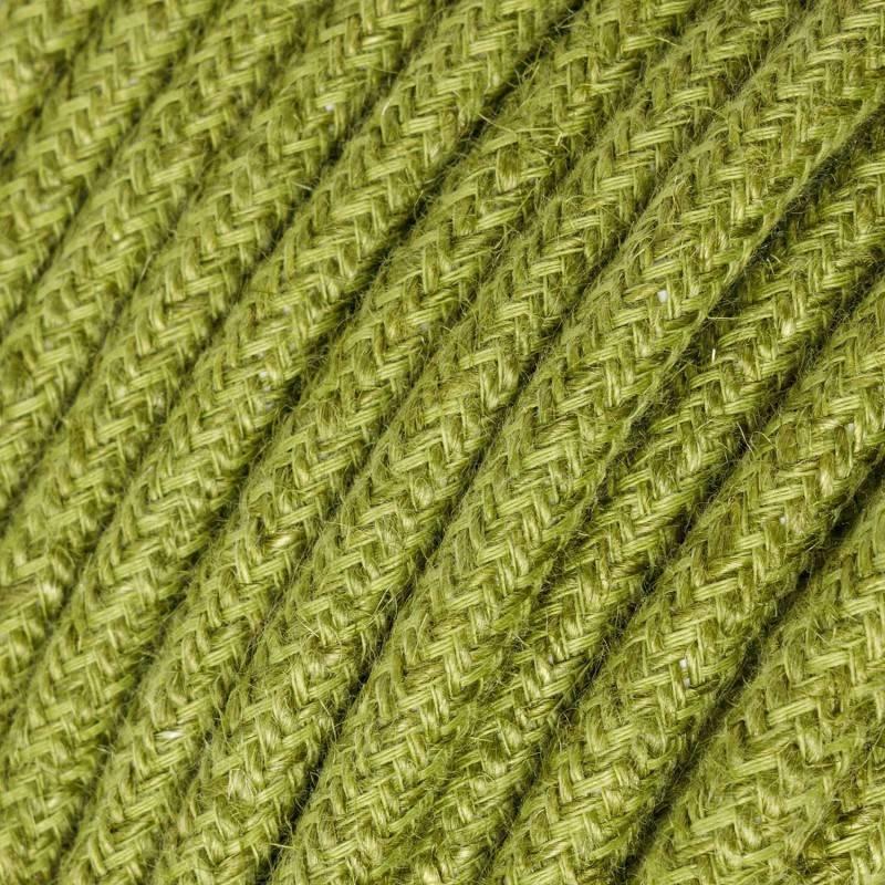 Gevlochten flexibele textielkabel van viscose met schakelaar en stekker. TM20 - domkerblauw 1,80 m.