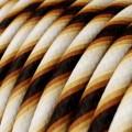 Gevlochten flexibele textielkabel van katoen met schakelaar en stekker. TC01 - wit 1,80 m.
