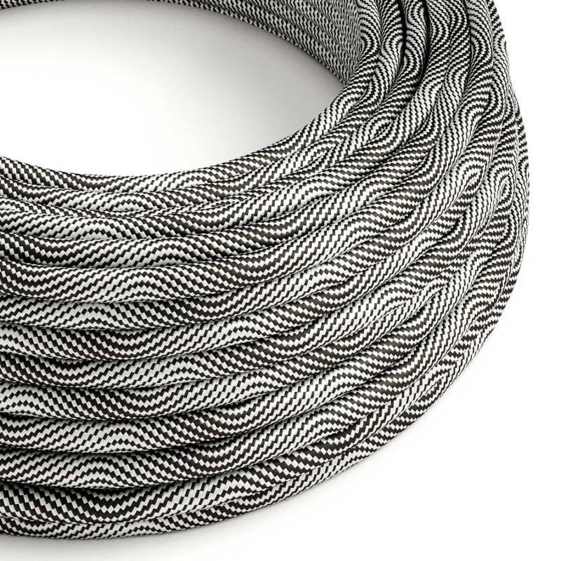 Gevlochten flexibele textielkabel van viscose met schakelaar en stekker. TM19 - bordeauxrood 1,80 m.