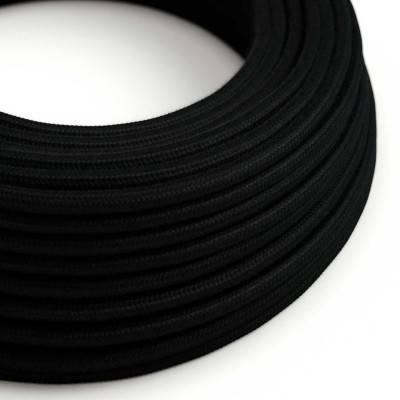 Ronde flexibele textielkabel van katoen met schakelaar en stekker. RC01 - wit 1,80 m.