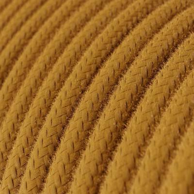 Ronde flexibele textielkabel van katoen met schakelaar en stekker. RC53 - oceaan blauw 1,80 m.