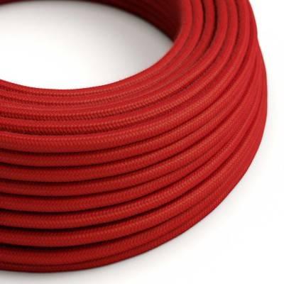 Ronde flexibele textielkabel van katoen met schakelaar en stekker. RC63 - groengrijs 1,80 m.