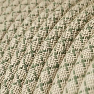Ronde flexibele textielkabel van katoen met schakelaar en stekker. RC04 - zwart 1,80 m.