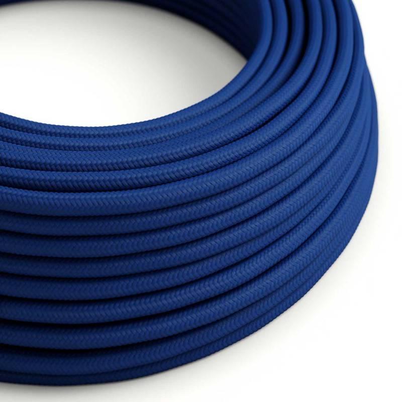 Metalen strijkijzersnoer verlichtingspendel E27 donkerblauw viscose RM20