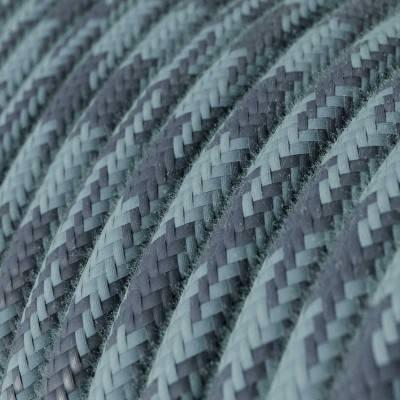 Metalen strijkijzersnoer verlichtingspendel E27 hemelsblauw viscose RM11