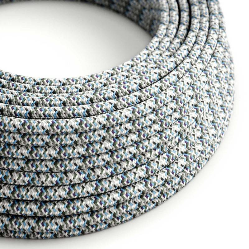 Metalen strijkijzersnoer verlichtingspendel E27 lila viscose RM07