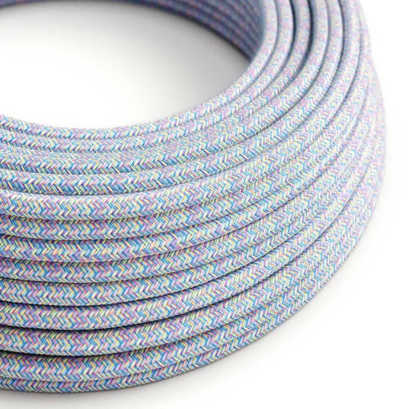 Metalen strijkijzersnoer verlichtingspendel E27 wit katoen RC01