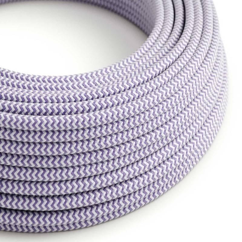 Metalen strijkijzersnoer verlichtingspendel E27 wit viscose RM01