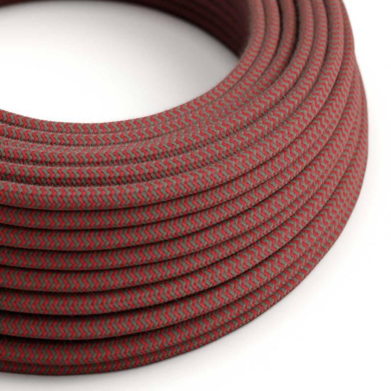 Metalen strijkijzersnoer verlichtingspendel E27 fuchsia viscose RM08