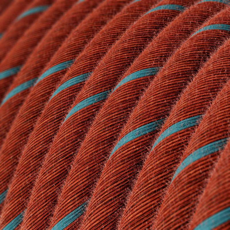 Metalen strijkijzersnoer verlichtingspendel E27 donkergroen viscose RM21