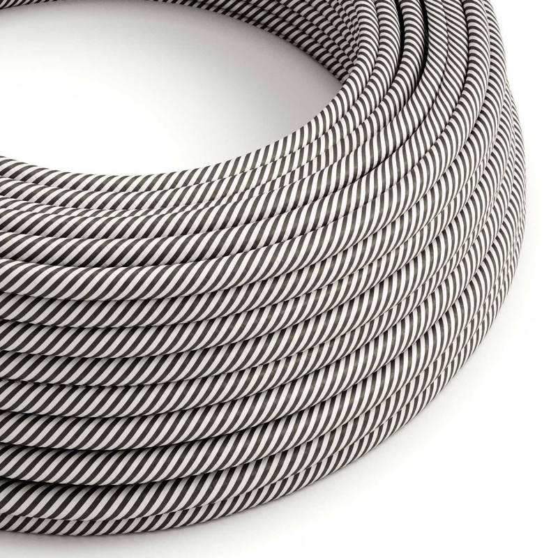 Metalen strijkijzersnoer verlichtingspendel E27 groengrijs katoen RC63