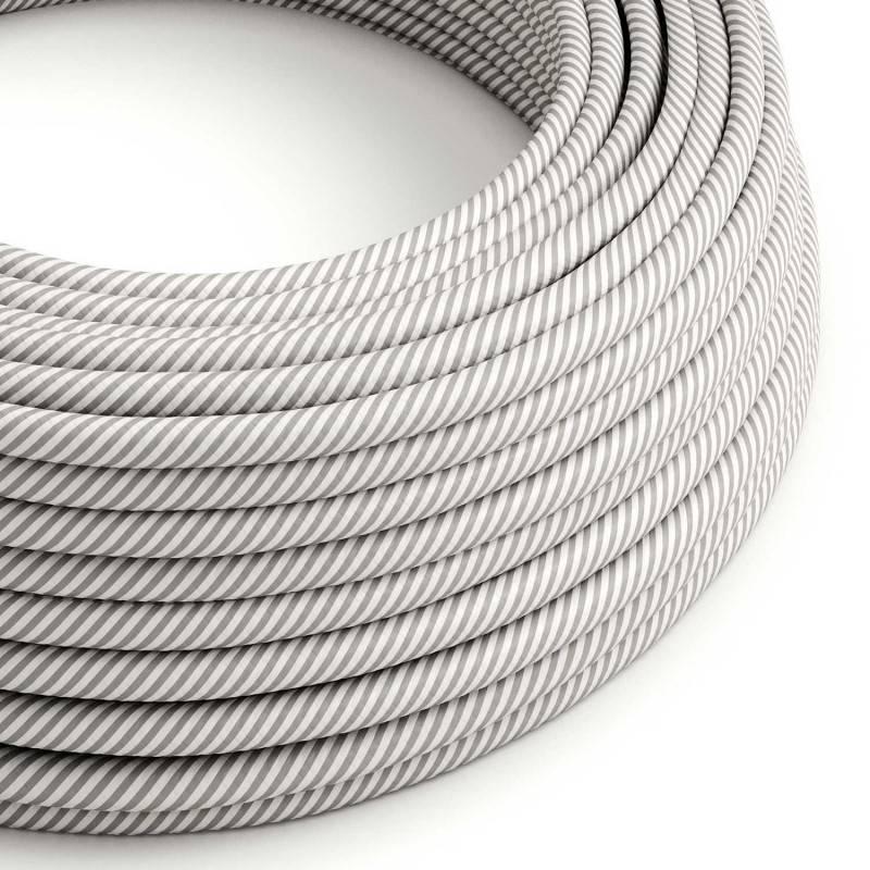 Metalen strijkijzersnoer verlichtingspendel E27 grijs viscose RM03