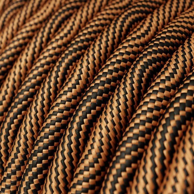 Metalen strijkijzersnoer verlichtingspendel E27 goud viscose RM05