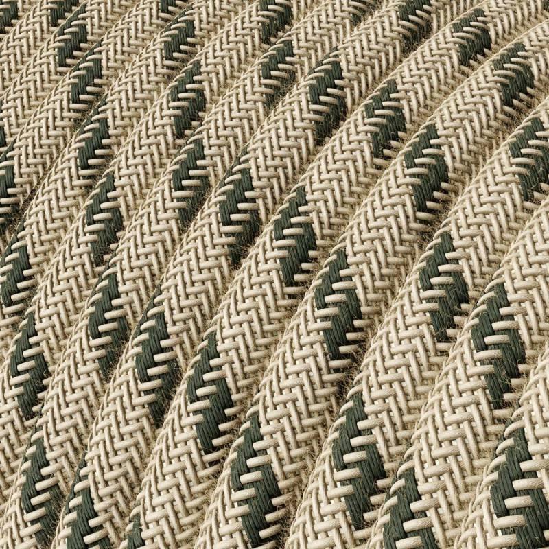Metalen strijkijzersnoer verlichtingspendel E27 grijs linnen RN02