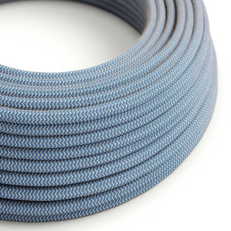 Metalen strijkijzersnoer verlichtingspendel E27 natuurlijk antraciet linnen RN03