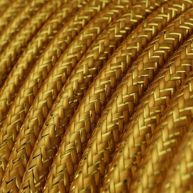 Metalen strijkijzersnoer verlichtingspendel E27 zigzag motief bruin linnen en katoen RD73