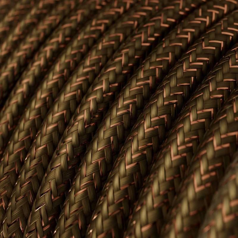 Metalen strijkijzersnoer verlichtingspendel E27 diamant motief bruin linnen en katoen RD63