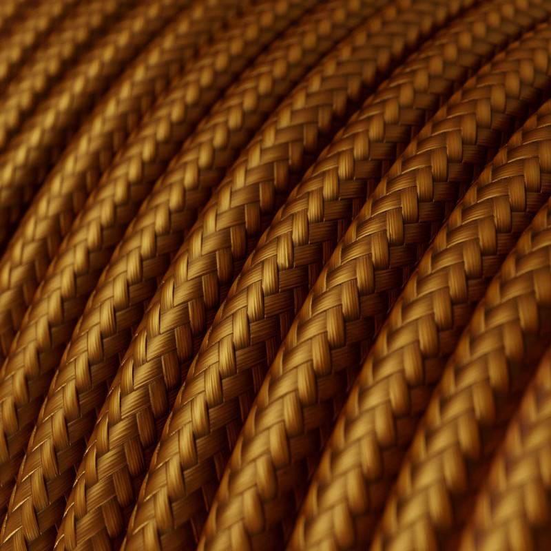 Metalen strijkijzersnoer verlichtingspendel E27 strepen motief roze linnen en katoen RD51