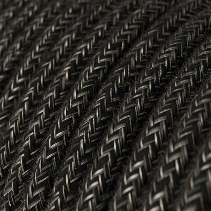 Metalen strijkijzersnoer verlichtingspendel E27 diamant motief tijm linnen en katoen RD62
