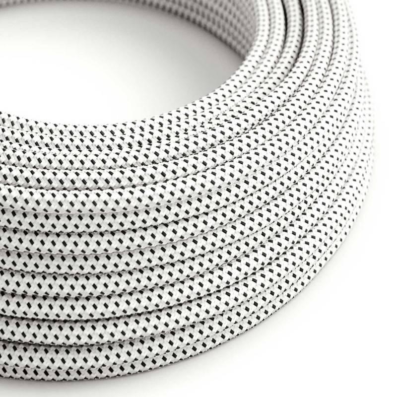 Metalen strijkijzersnoer verlichtingspendel E27 zwart linnen en katoen RS81