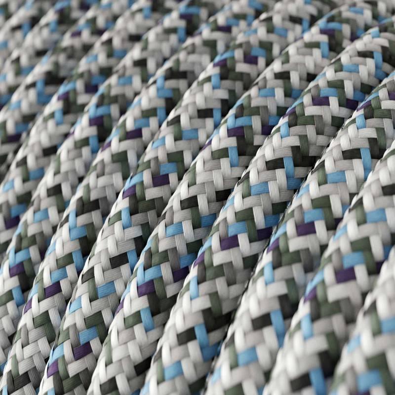 Metalen strijkijzersnoer verlichtingspendel E27 roodbruin linnen en katoen RS82