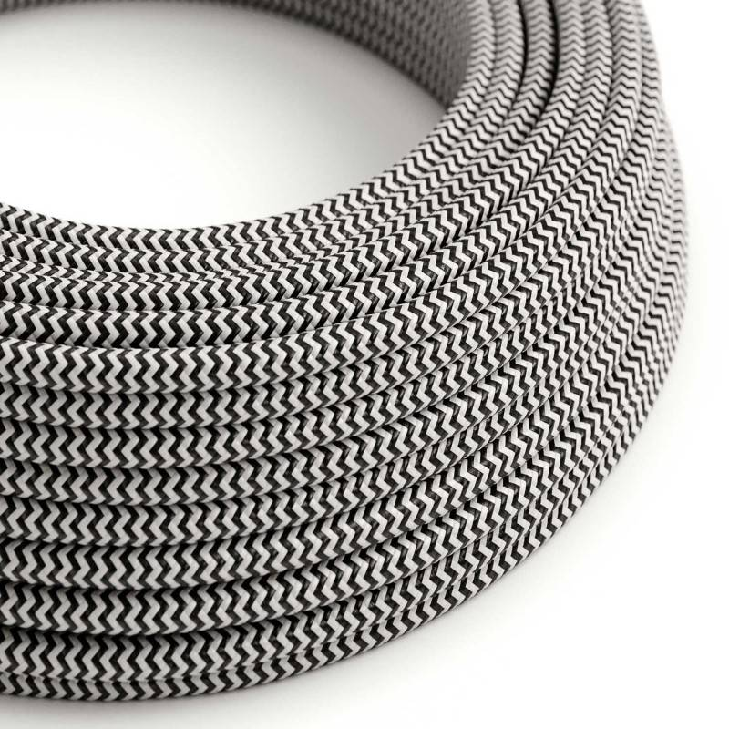 Metalen strijkijzersnoer verlichtingspendel E27 zwart viscose RZ04