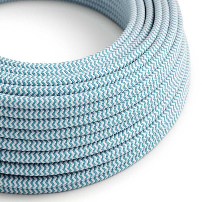 Metalen strijkijzersnoer verlichtingspendel E27 blauw viscose RZ12