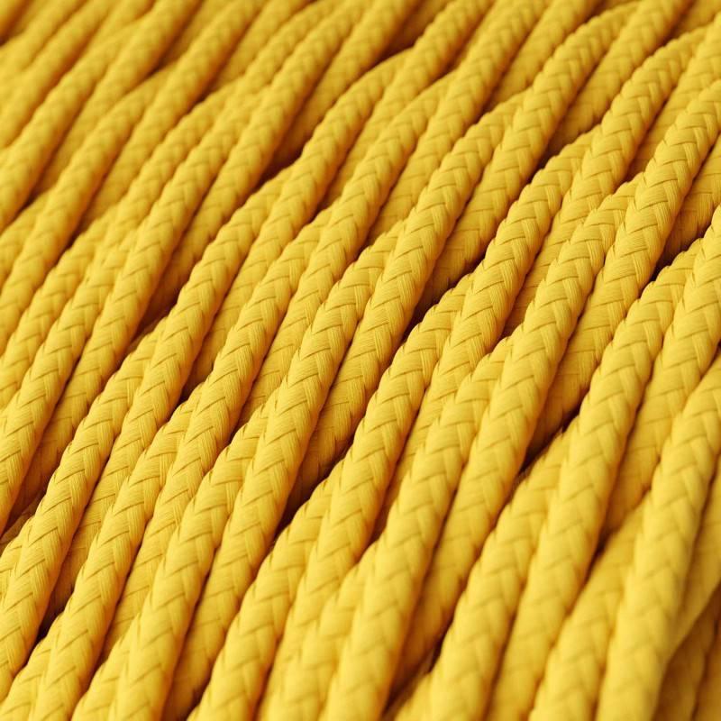 Metalen strijkijzersnoer verlichtingspendel E27 geel viscose RZ10
