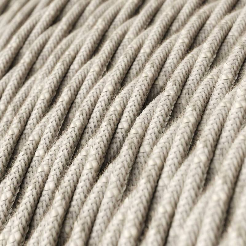 Metalen strijkijzersnoer verlichtingspendel E27 zwart/wit viscose RP04