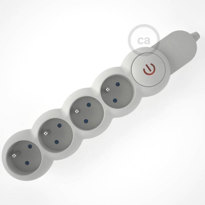 Metalen strijkijzersnoer verlichtingspendel E27 gevlochten ecru katoen TC43