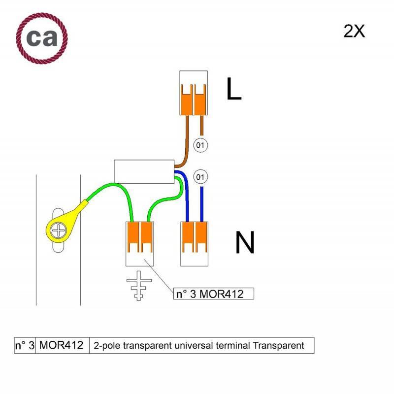 Metalen strijkijzersnoer verlichtingspendel E27 gevlochten goud viscose TM05