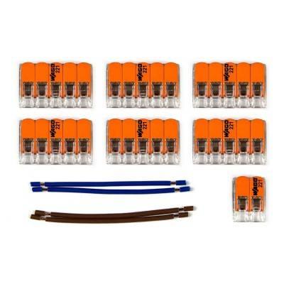 WAGO verbindingskit compatibel met 2x kabel voor 9-gaats Aansluitkap