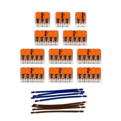 WAGO verbindingskit compatibel met 2x kabel voor 14-gaats Aansluitkap