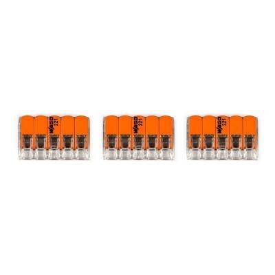 WAGO verbindingskit compatibel met 3x kabel voor 3-gaats Aansluitkap