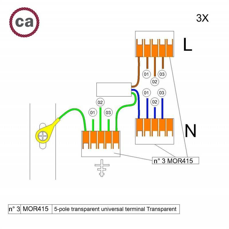 Metalen strijkijzersnoer verlichtingspendel E27 gevlochten bruin viscose TM13