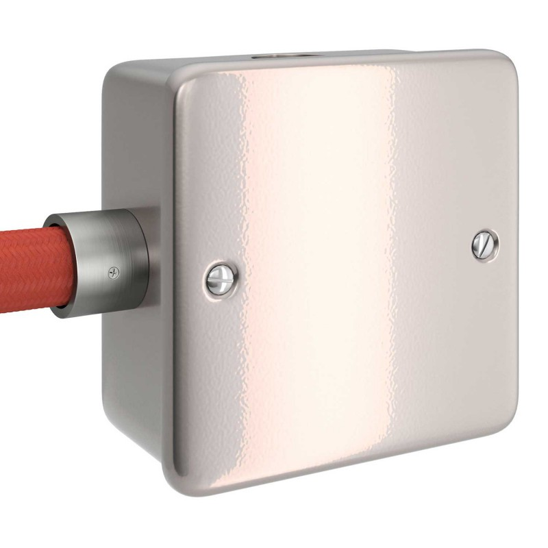 Metalen strijkijzersnoer verlichtingspendel E27 gevlochten paars viscose TM14