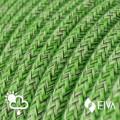 Metalen strijkijzersnoer verlichtingspendel E27 gevlochten lila viscose TM07