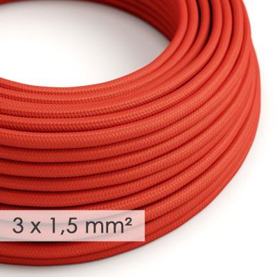 Lang overbruggings- strijkijzersnoer 3 x 1,50 mm. - rood viscose RM09