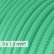 Lang overbrugging-snoer 3 x 1.50 rond - bekleed met viscose opaal RH69