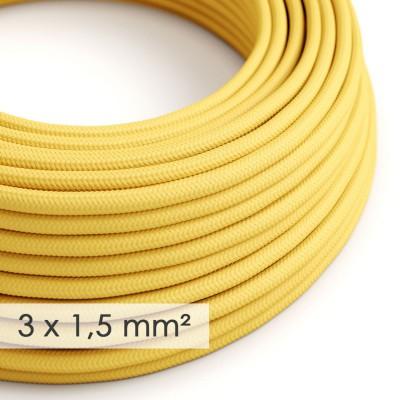 Lang overbrugging-snoer 3 x 1.50 rond - bekleed met gele viscose RM10